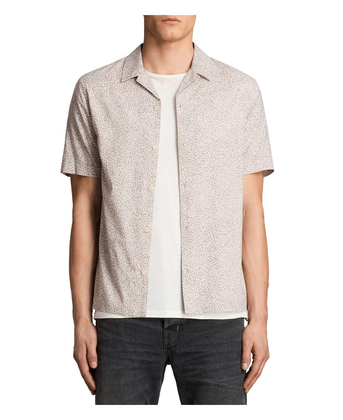 Lyst Allsaints Wasco Slim Fit Button Down Shirt For Men