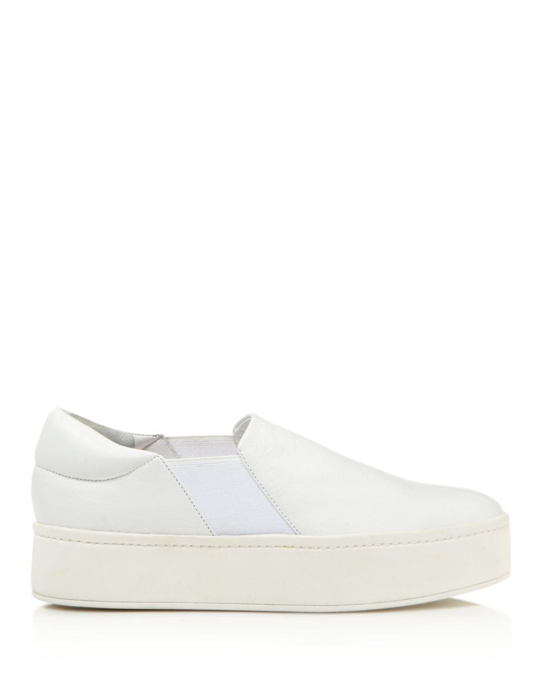 b3c196a672a6 Lyst - Vince Warren Platform Slip-on Sneakers in White