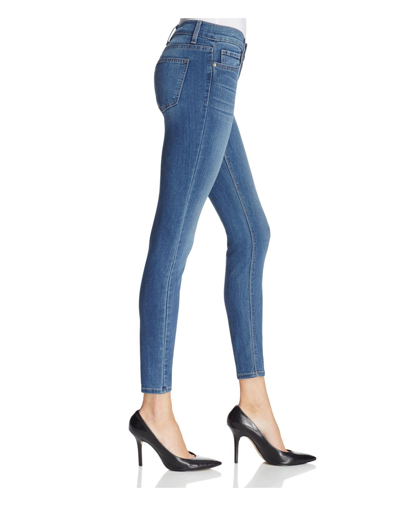 Pistola Denim Audrey Mid Rise Skinny Jeans In Pacific Blue