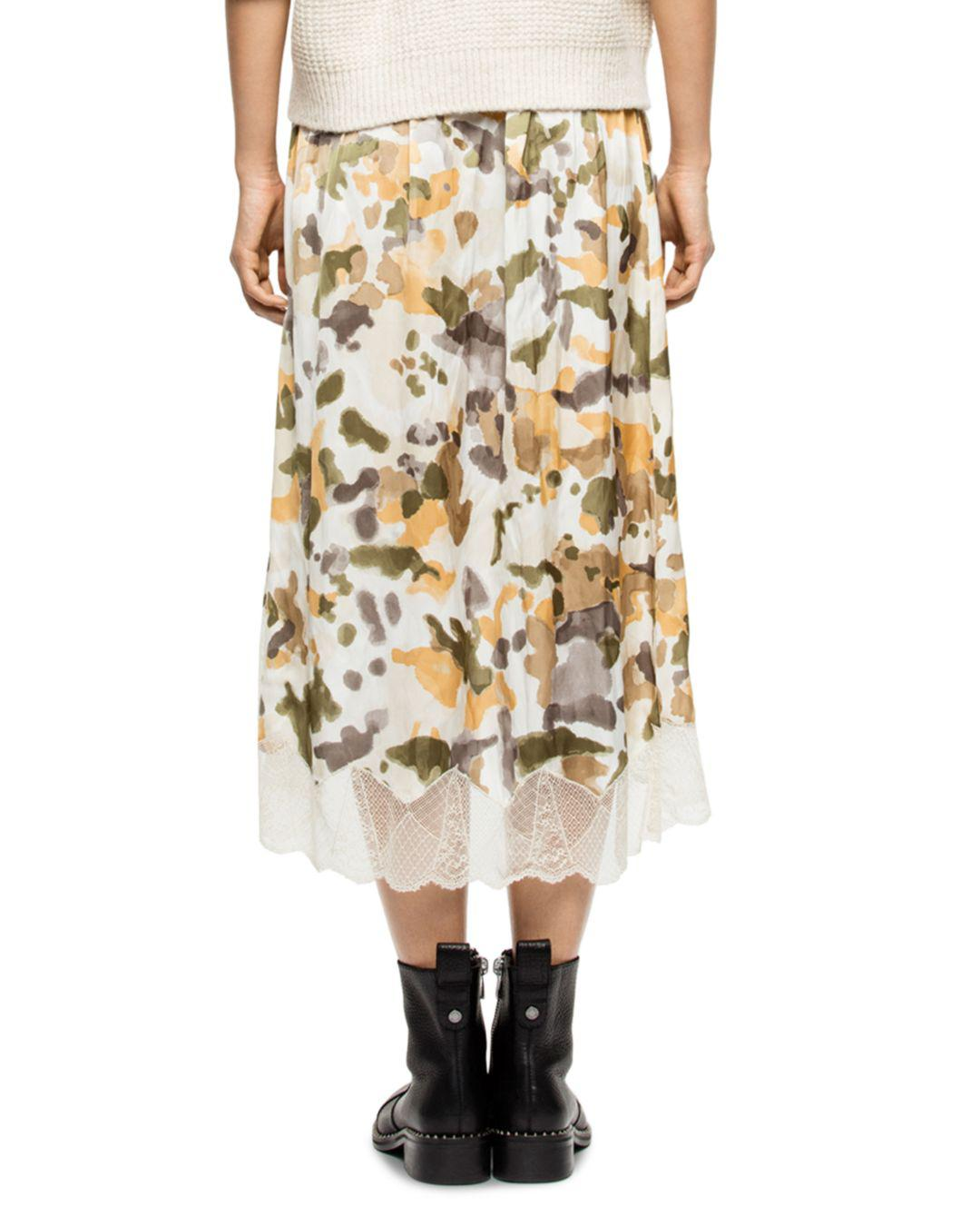 Lyst - Zadig   Voltaire Joslin Camo Skirt in Natural - Save 15% 3bfc90f75