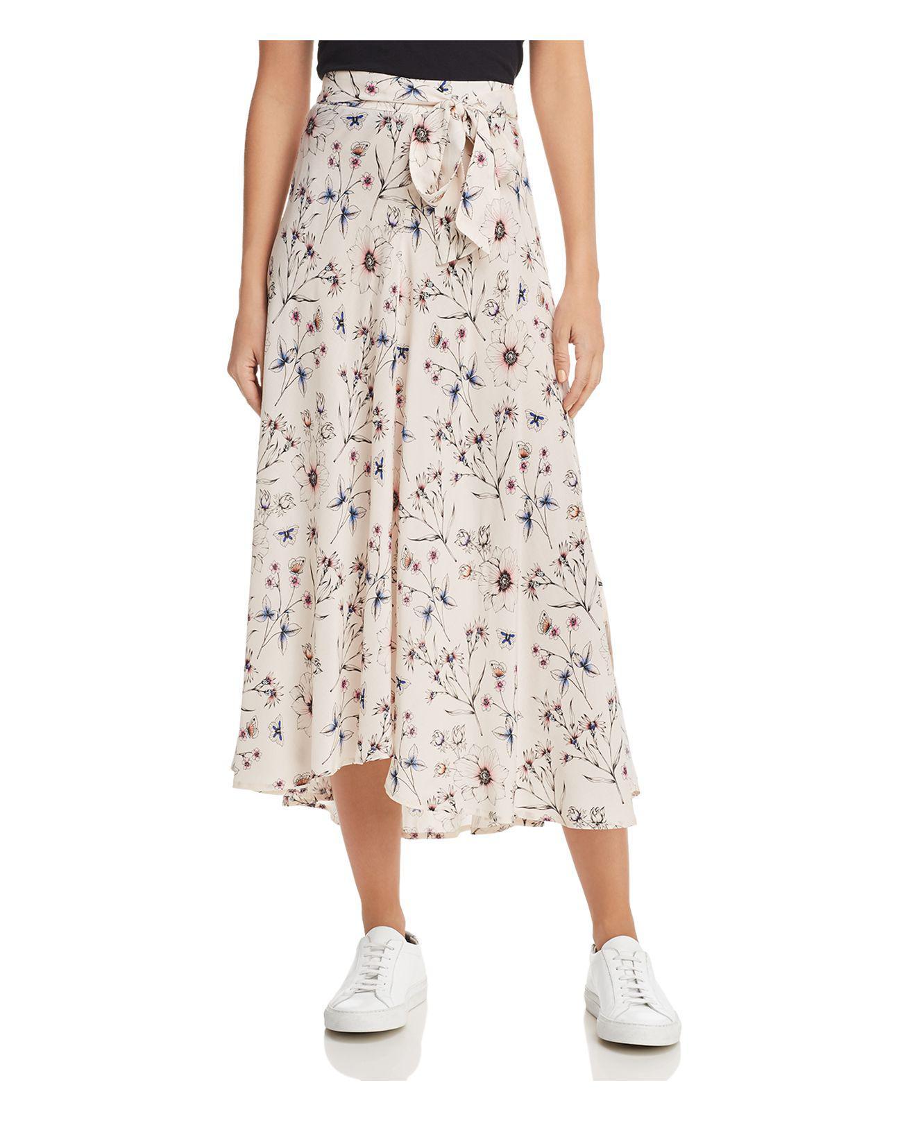 Velvet By Graham & Spencer. Women's Swan Floral Print Midi Skirt