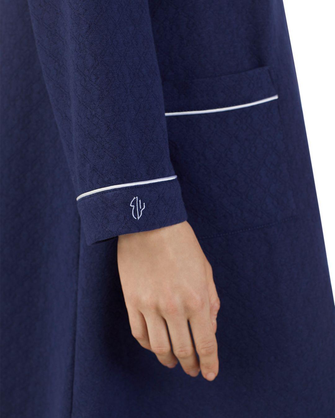 456805ad06 Eileen West - Blue Short Matelasse Zip Robe - Lyst. View fullscreen
