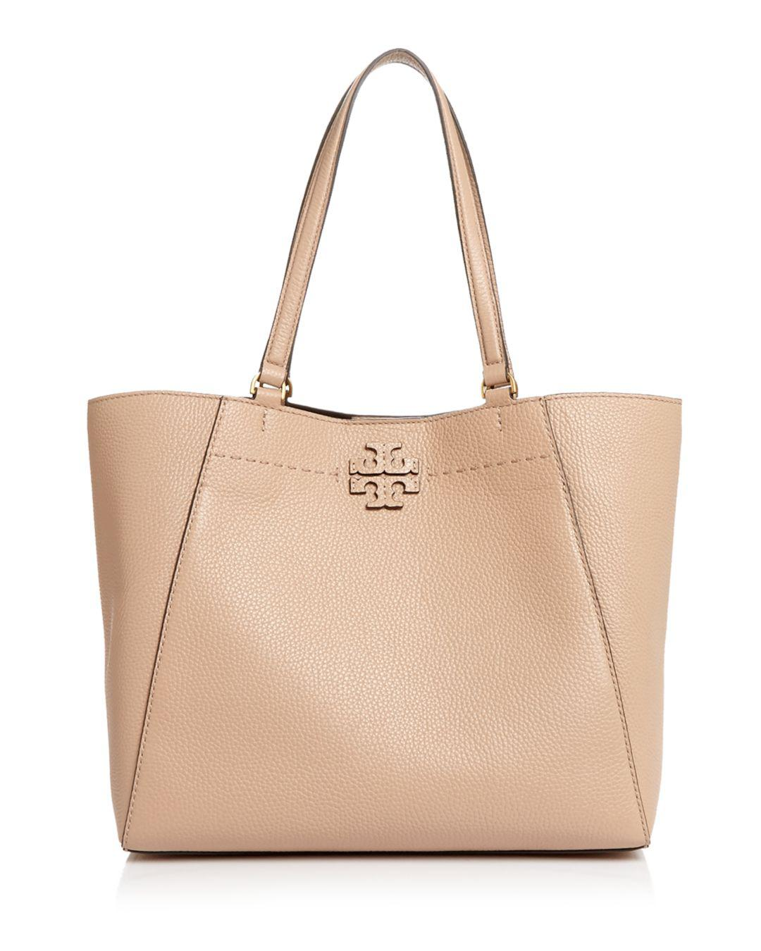 7e840763d3fb Lyst - Tory Burch Mcgraw Large Leather Carryall Tote in Natural