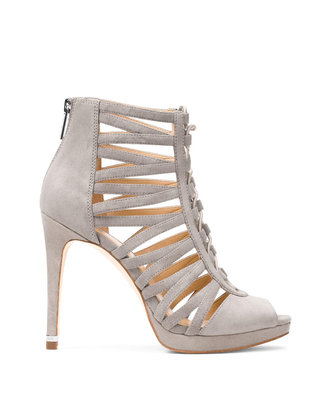 d20fd2e487c Lyst - MICHAEL Michael Kors Clarissa Caged Platform High Heel Sandals