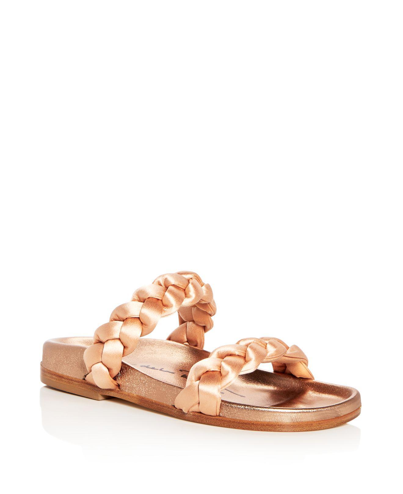 Oscar de la Renta Women's Charlee Crystal Embellished Satin Slide Sandals M9bUm0