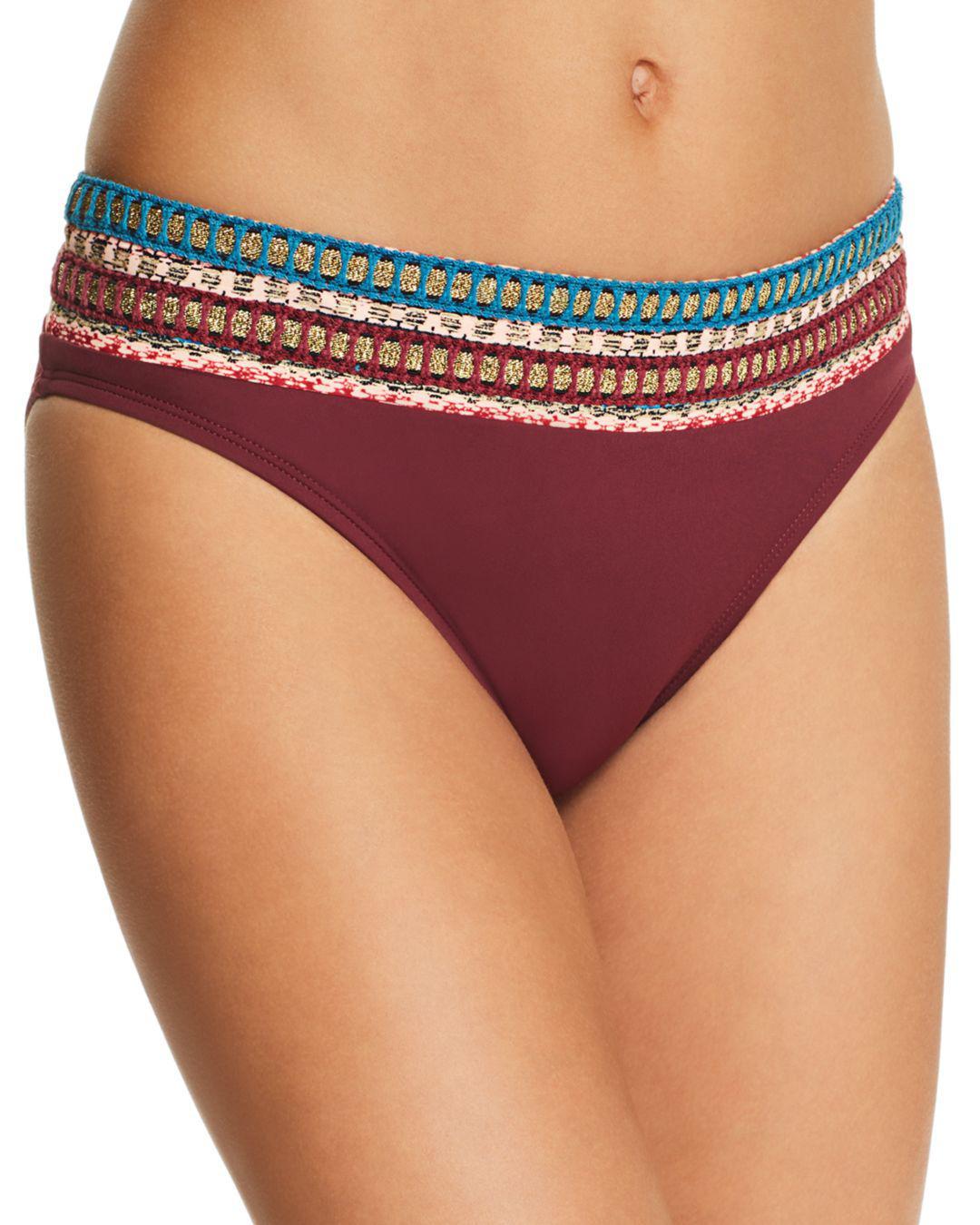 13ddb6713b5c4 Lyst - La Blanca Running Stitch Hipster Bikini Bottom in Red