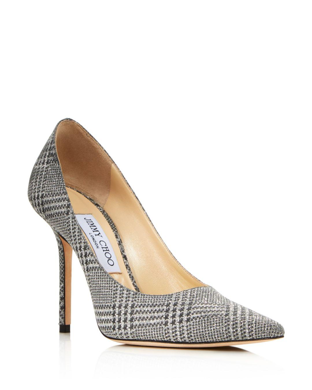 571e7401f33 Lyst - Jimmy Choo Women s Love 100 Pointed Toe Checkered Pumps in ...