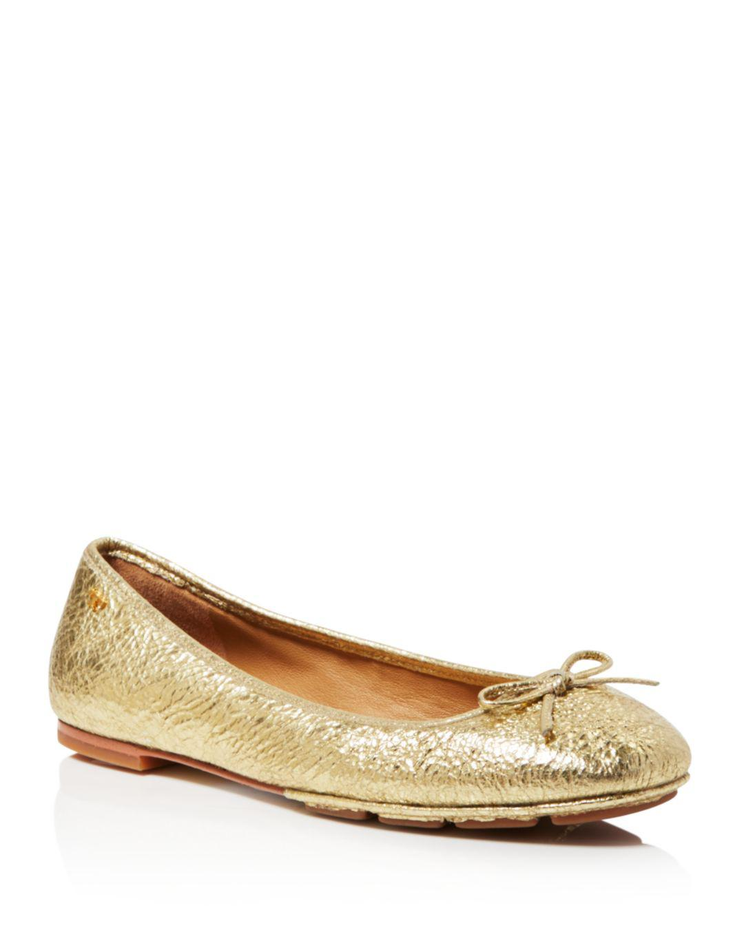 d20b204df Tory Burch Women s Laila Leather Driver Ballet Flats - Save ...