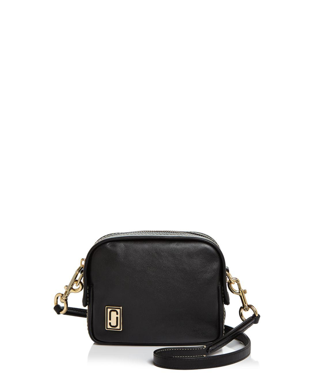 c9ba47719519 Lyst - Marc Jacobs The Mini Squeeze Leather Crossbody Bag in Black ...
