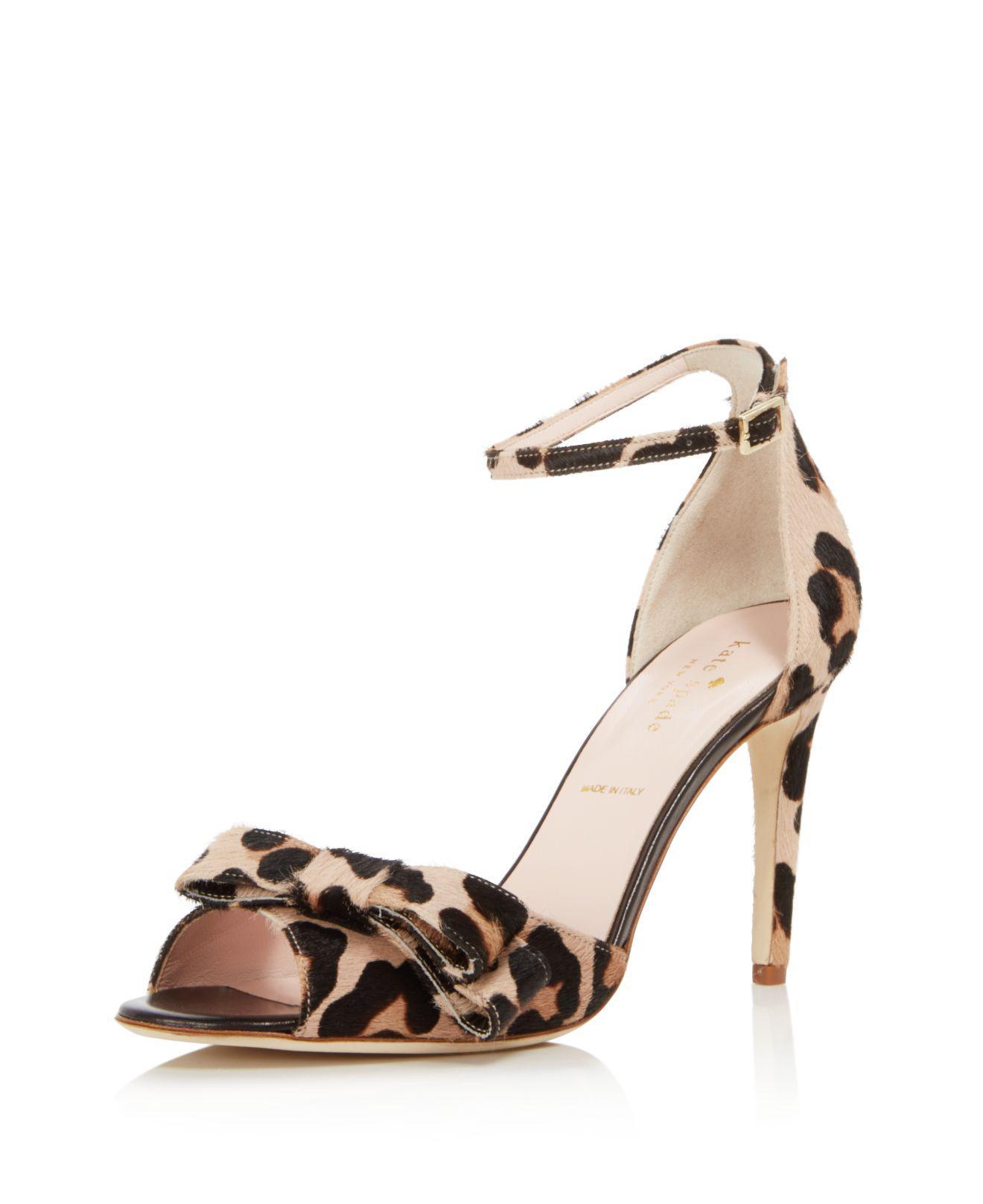 Free Shipping 100% Authentic Kate Spade New York Women's Ismay Print Calf Hair High-Heel Bow Sandals Visa Payment Sale Online bZisQaRA