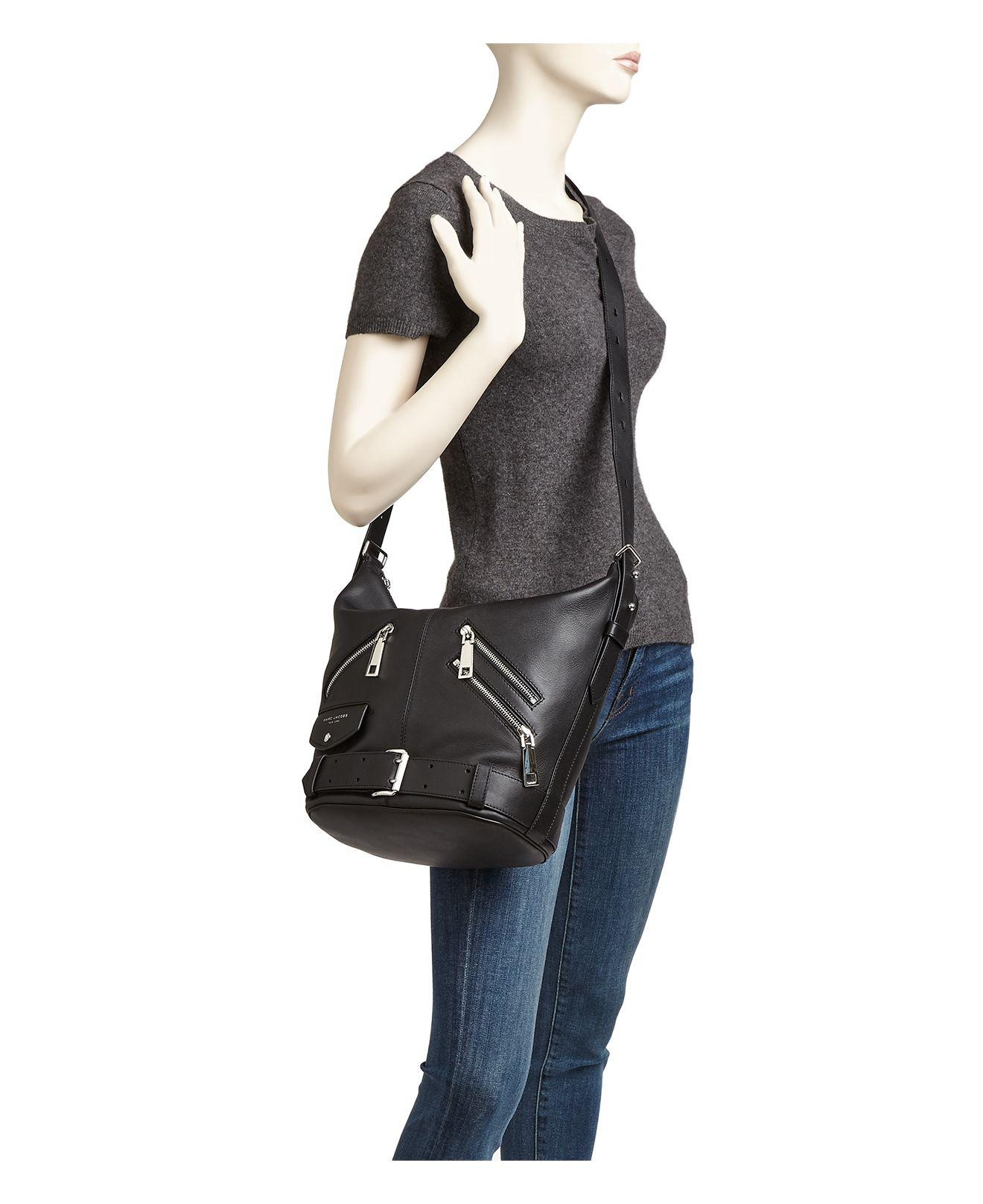 4f5be6161d7b75 Marc Jacobs The Sling Motorcycle Leather Hobo - Lyst