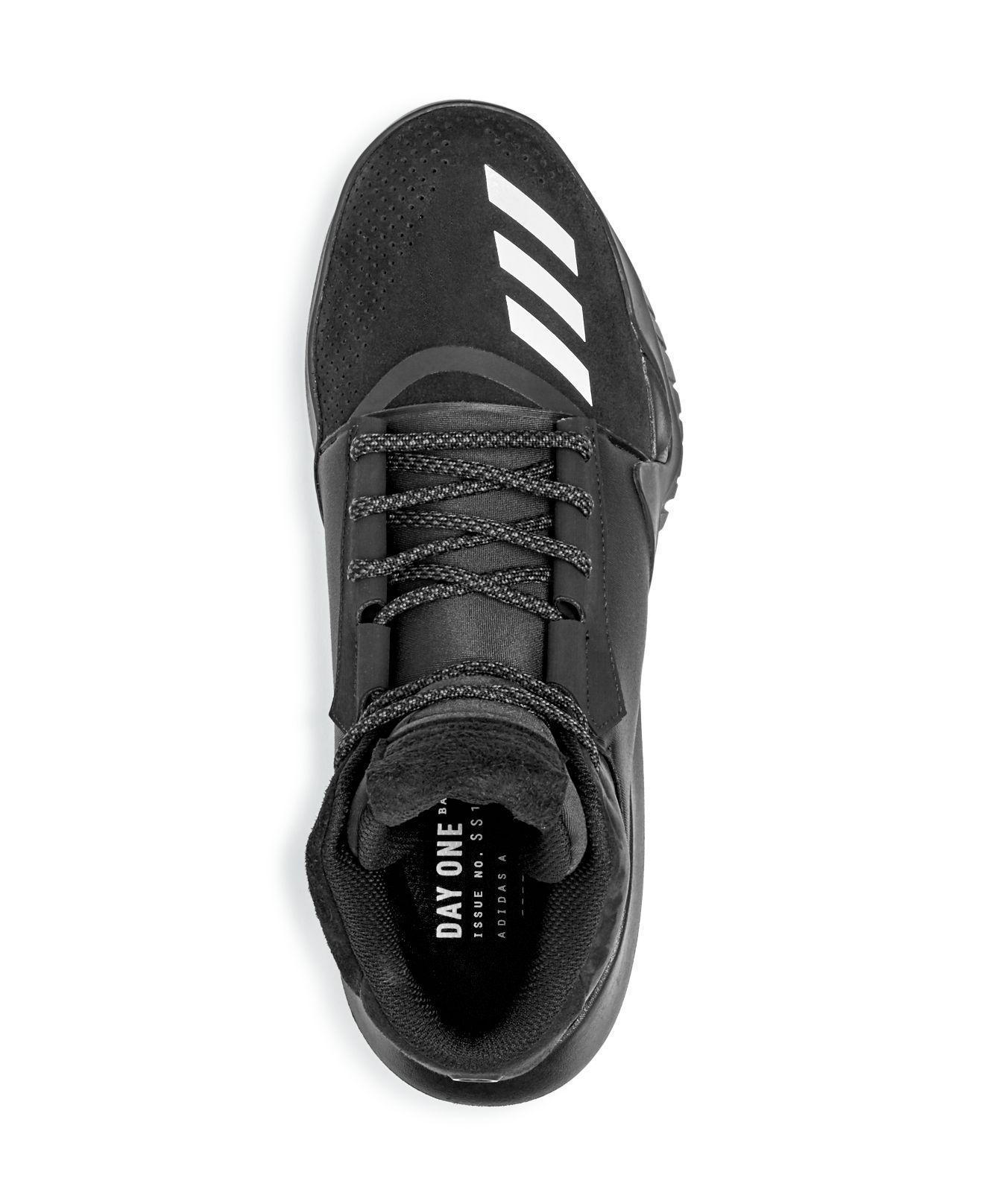 d7cfe707a adidas Originals Men s Ado Crazy Team High Top Sneakers in Black for ...