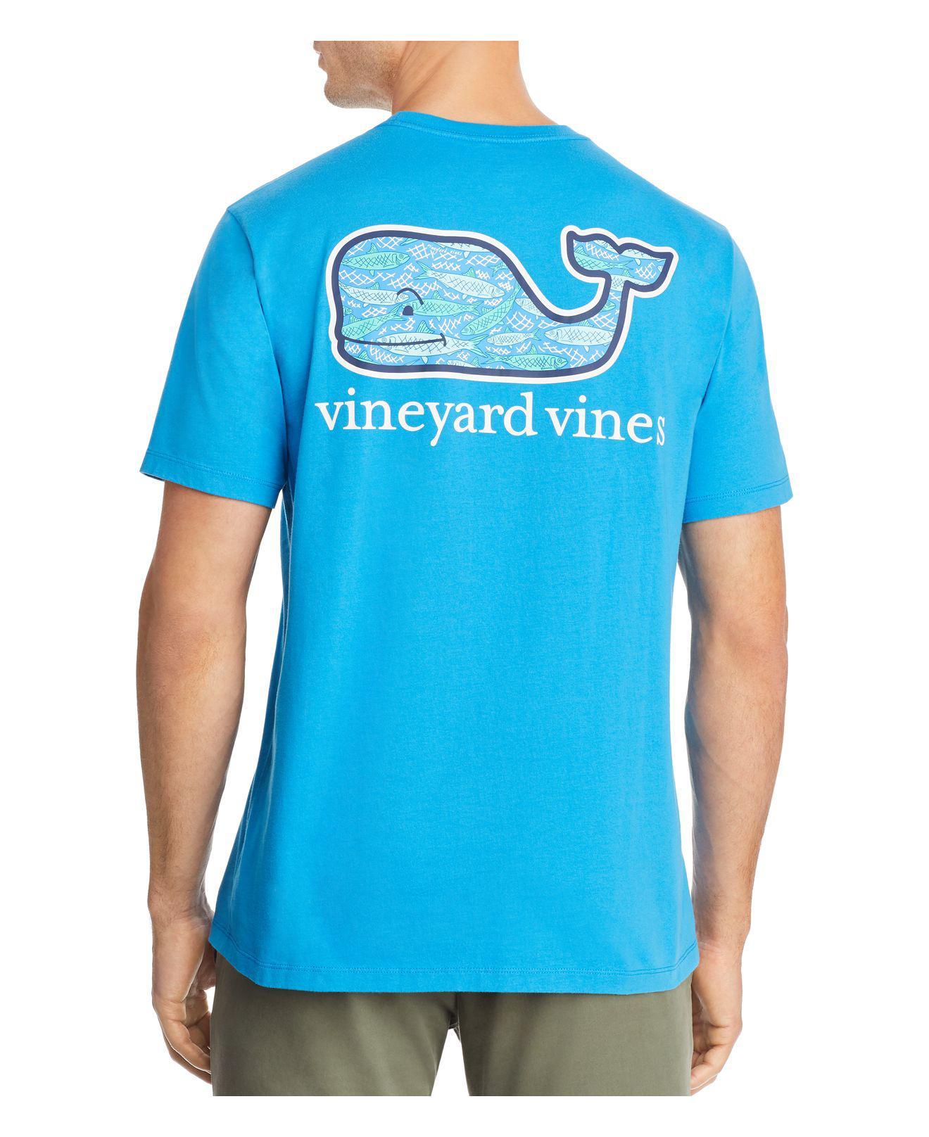 Lyst vineyard vines fish whale short sleeve pocket tee for Vineyard vines fishing shirt