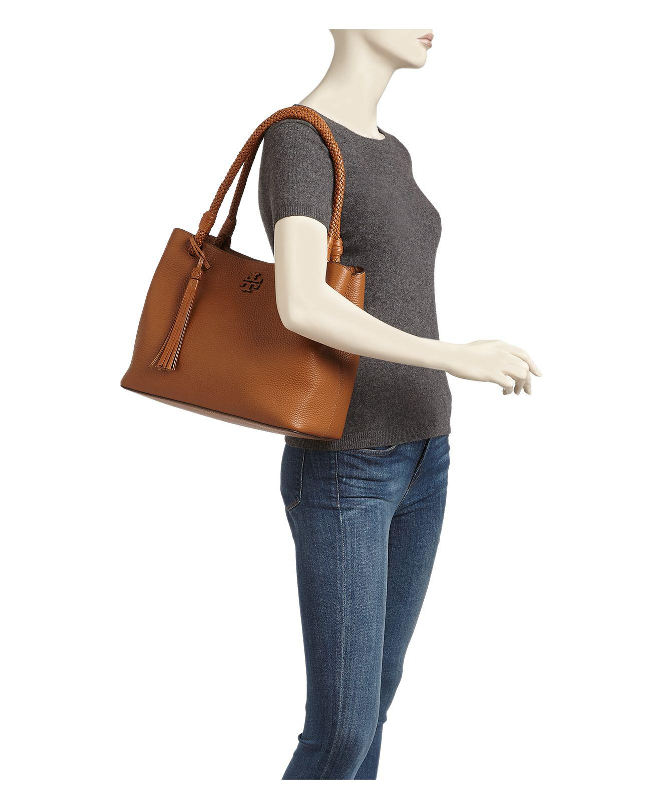 67d6051bff2d Lyst - Tory Burch Taylor Triple-compartment Leather Tote in Brown