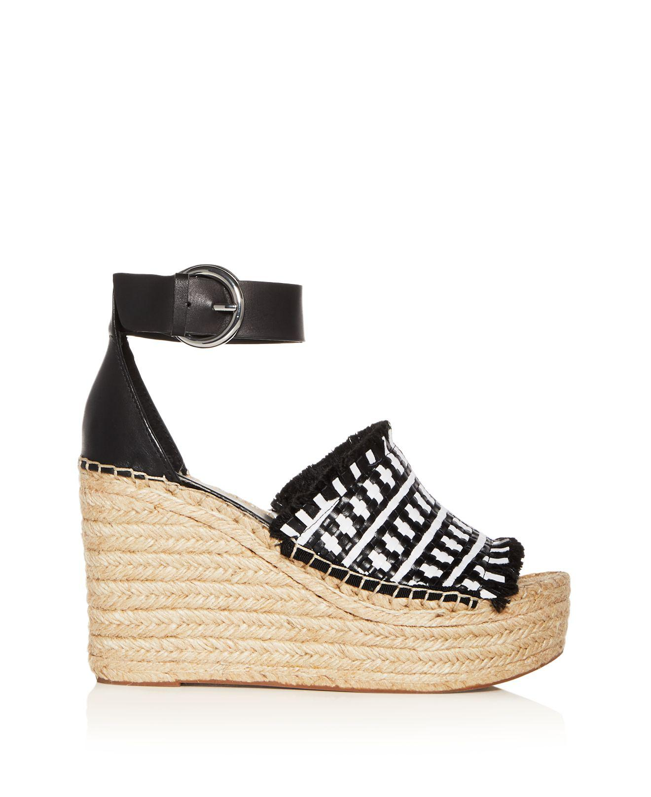 MARC FISHER Women's Andrew Woven Leather High-Heel Platform Espadrille Sandals 3bz1pSkKn