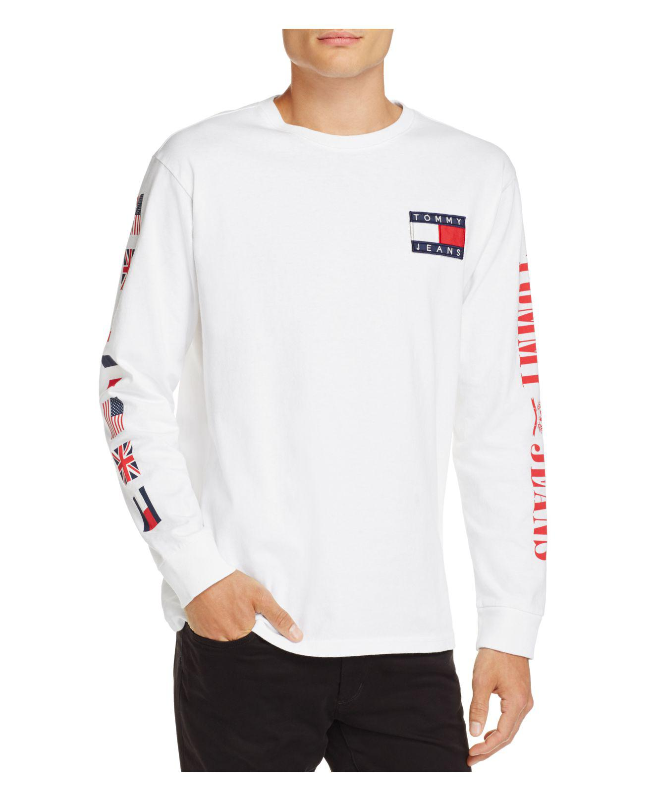 507c311c425017 Lyst - Tommy Hilfiger Tommy Jeans 90 s Logo Long Sleeve Crewneck Tee ...