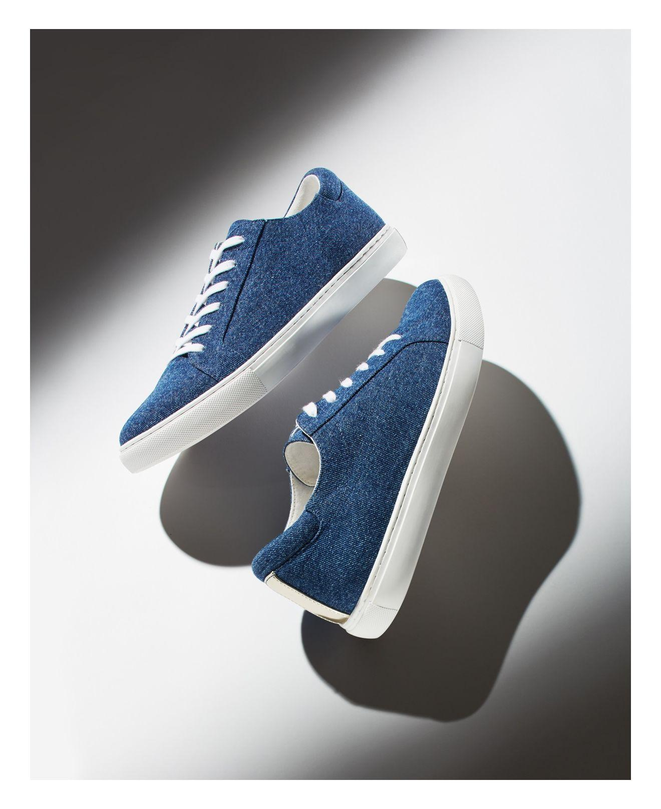 Kenneth Cole Leather Kam Lace-up Sneakers in Blue
