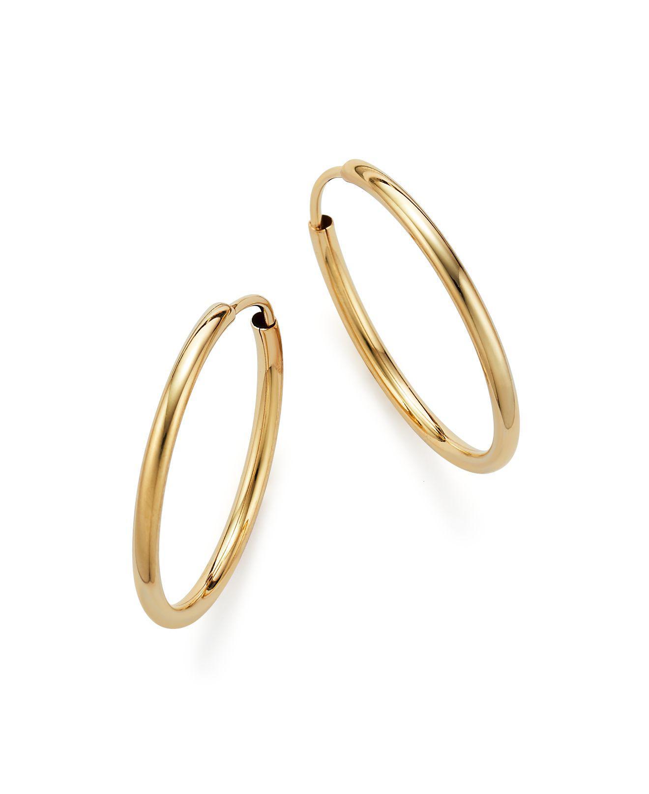 Bloomingdale S Women Metallic 14k Yellow Gold Endless Hoop Earrings