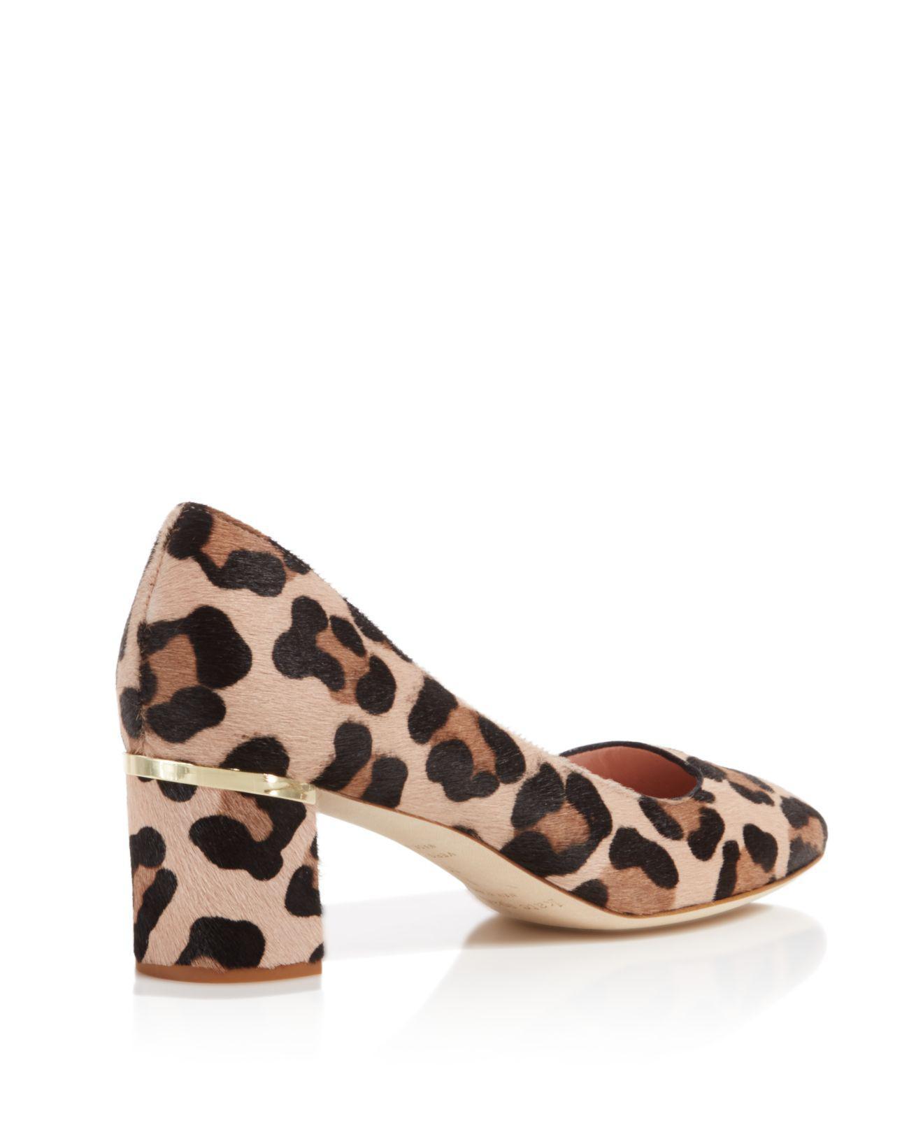 6aaca44cdfef Lyst - Kate Spade Dolores Too Leopard Print Calf Hair Pumps in Brown