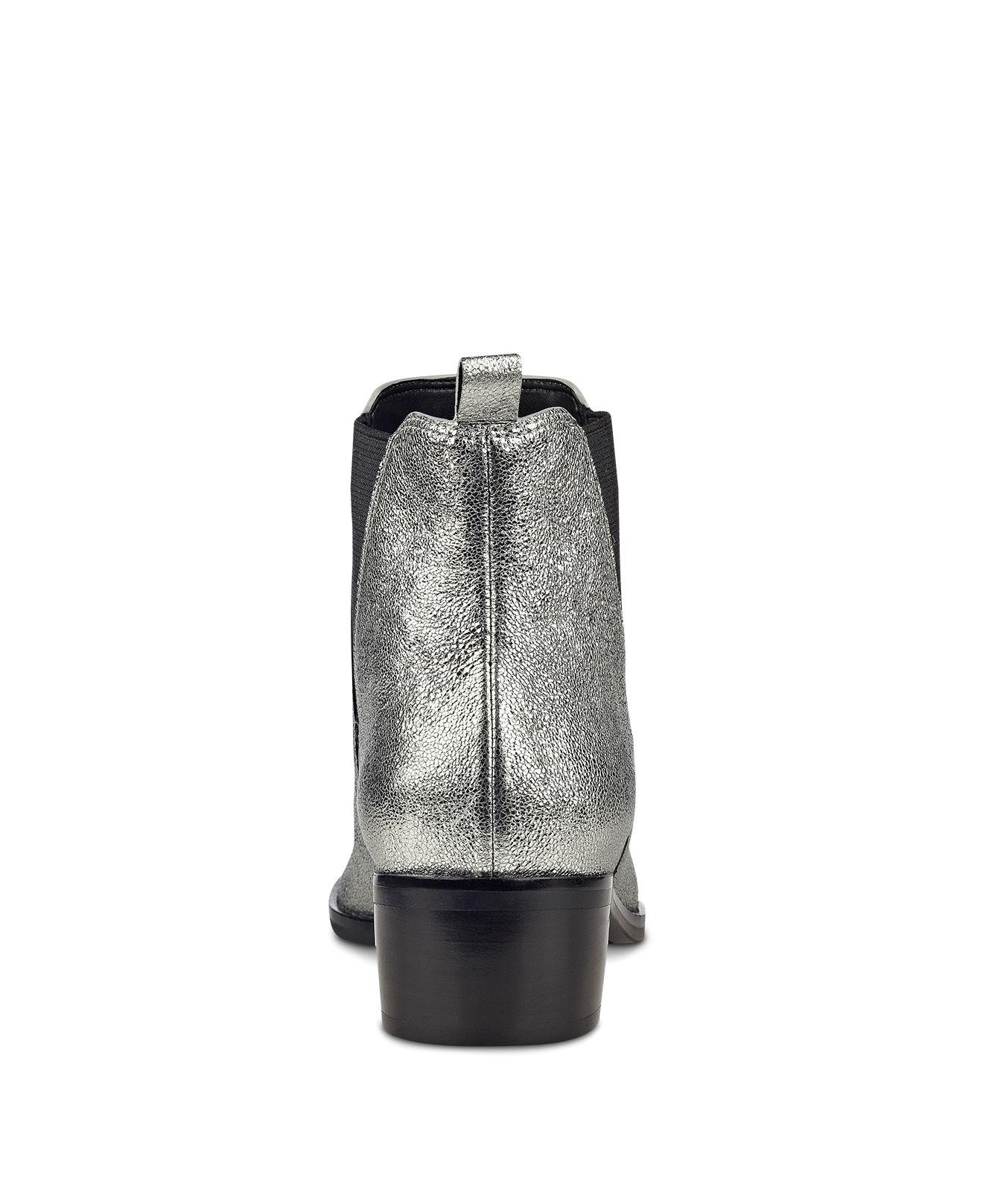 Marc Fisher Yale Metallic Leather Pointed Toe Chelsea