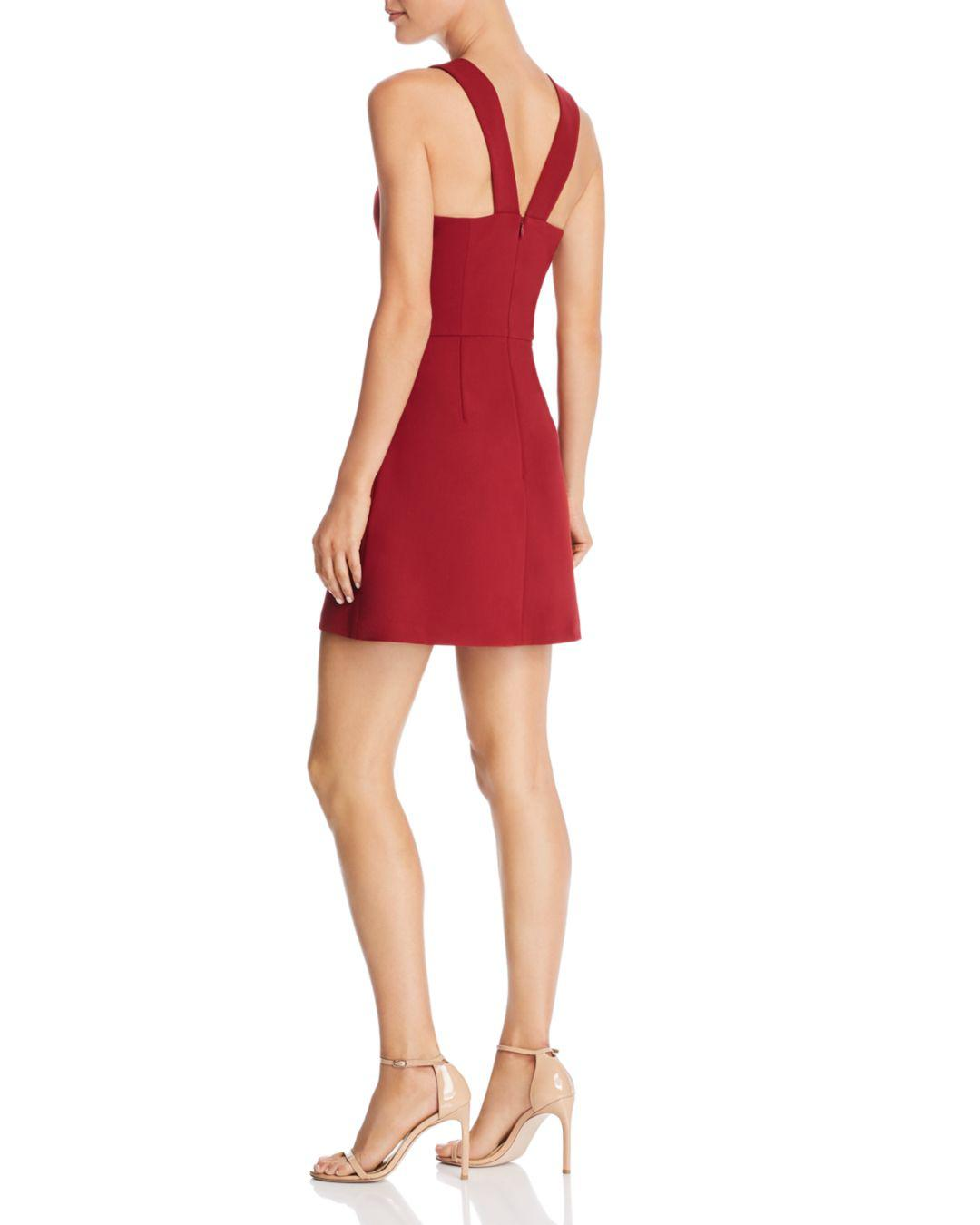 7c5772b4008 French Connection Whisper Light A-line Mini Dress in Red - Lyst