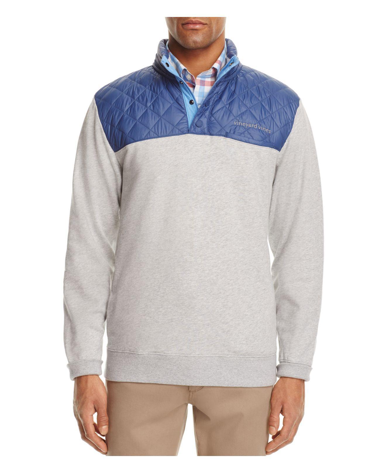 Vineyard Vines Quilted Shep Sweatshirt In Gray For Men Lyst
