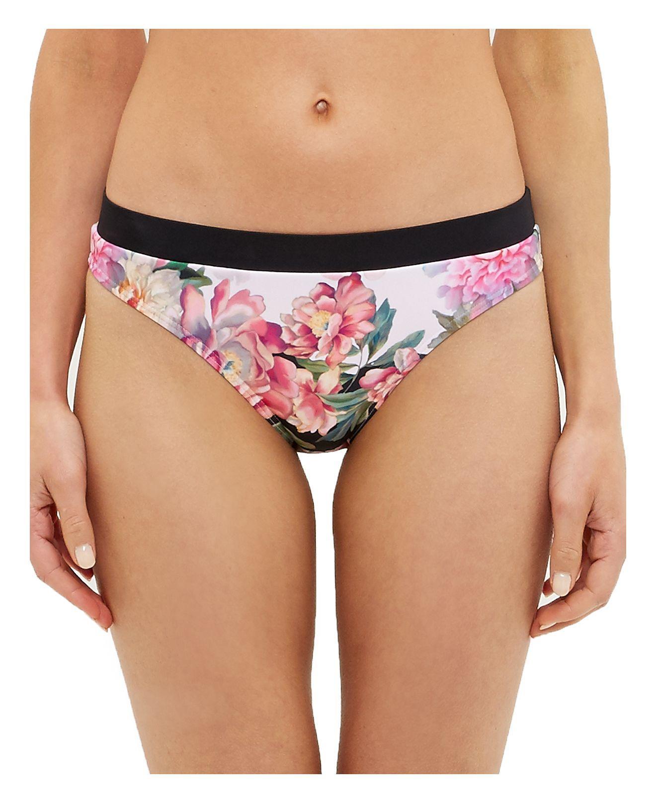 644646807ae742 Lyst - Ted Baker Adirif Painted Posie Bikini Bottom in Pink