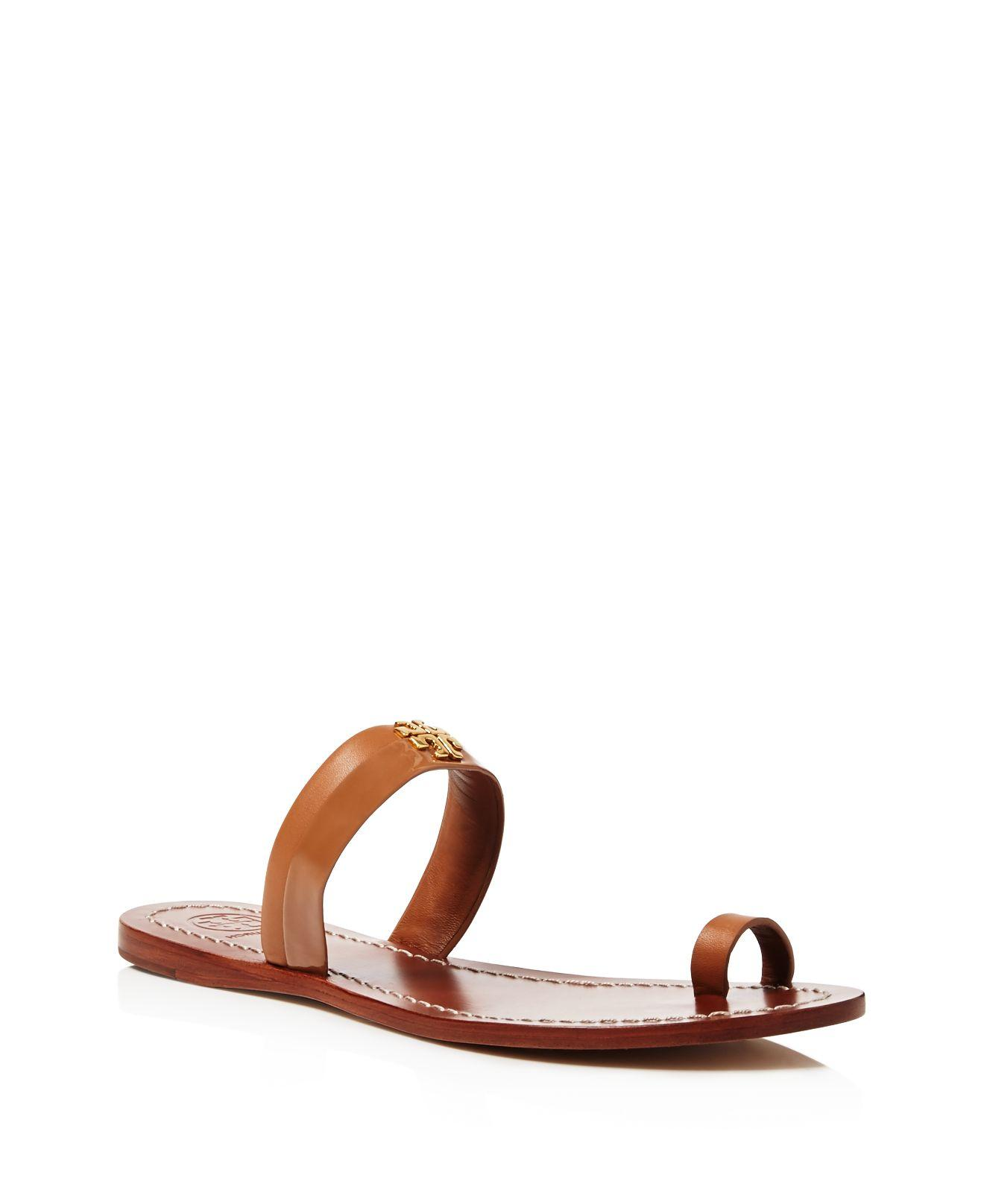 f67e22d8dc6a Lyst - Tory Burch Jolie Toe Ring Sandals in Brown