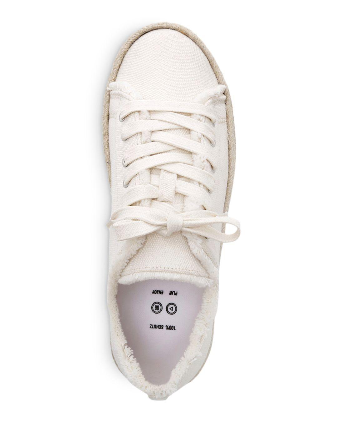 474857a0f1a2 Schutz - White Women s Luana Espadrille Lace-up Sneakers - Lyst. View  fullscreen