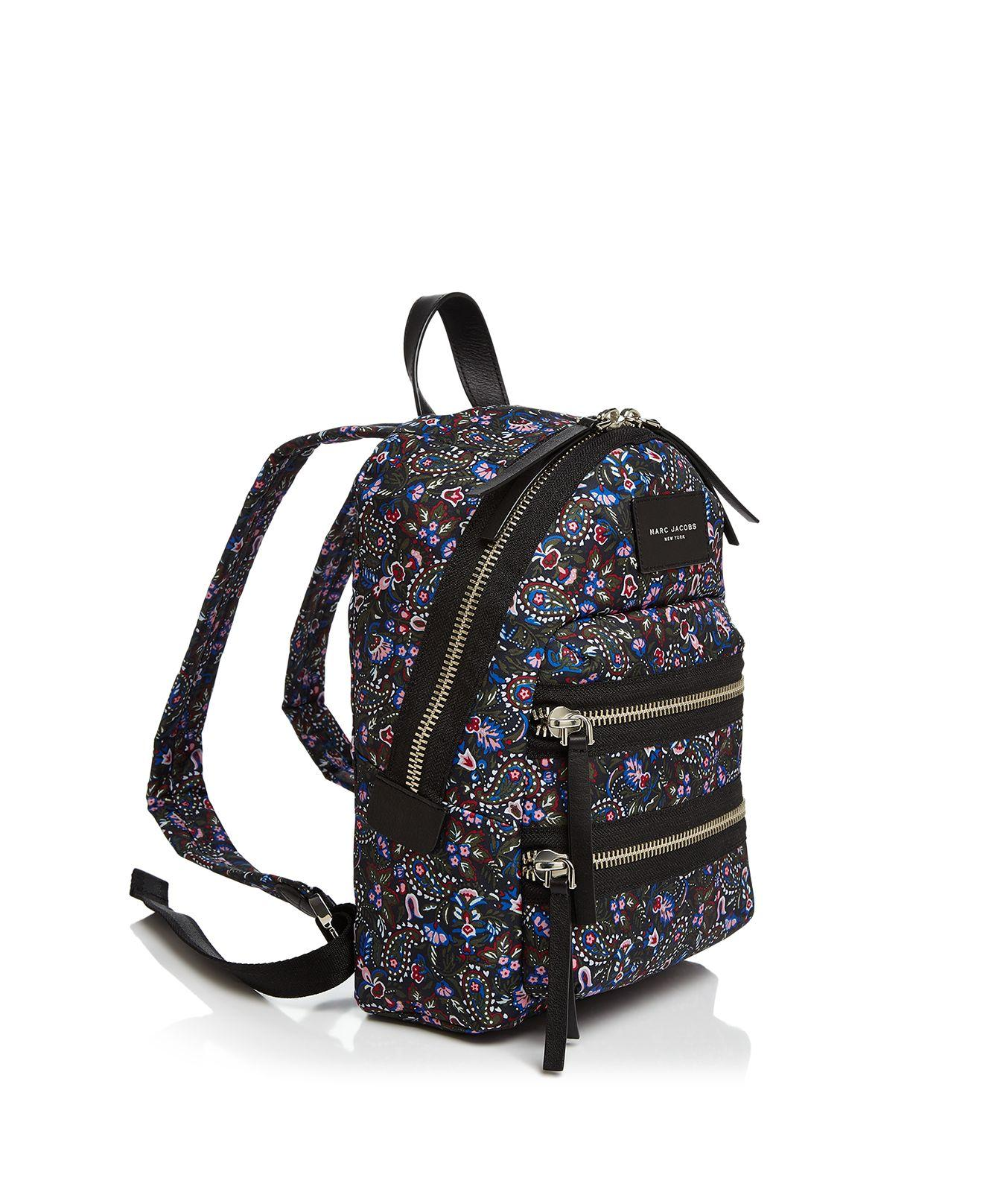 Marc Jacobs Synthetic Biker Floral Mini Nylon Backpack in Black