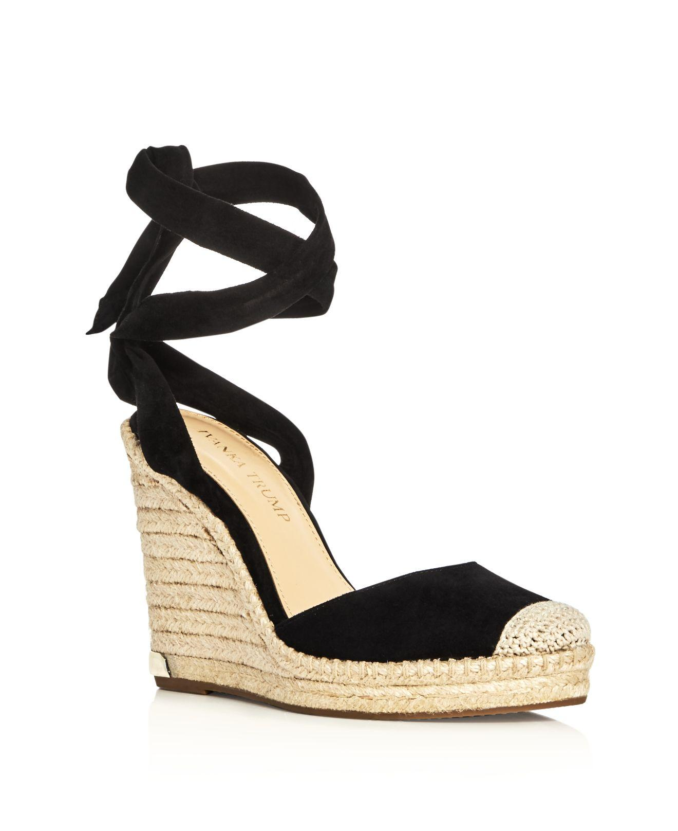 ivanka winikka ankle tie espadrille wedge sandals in
