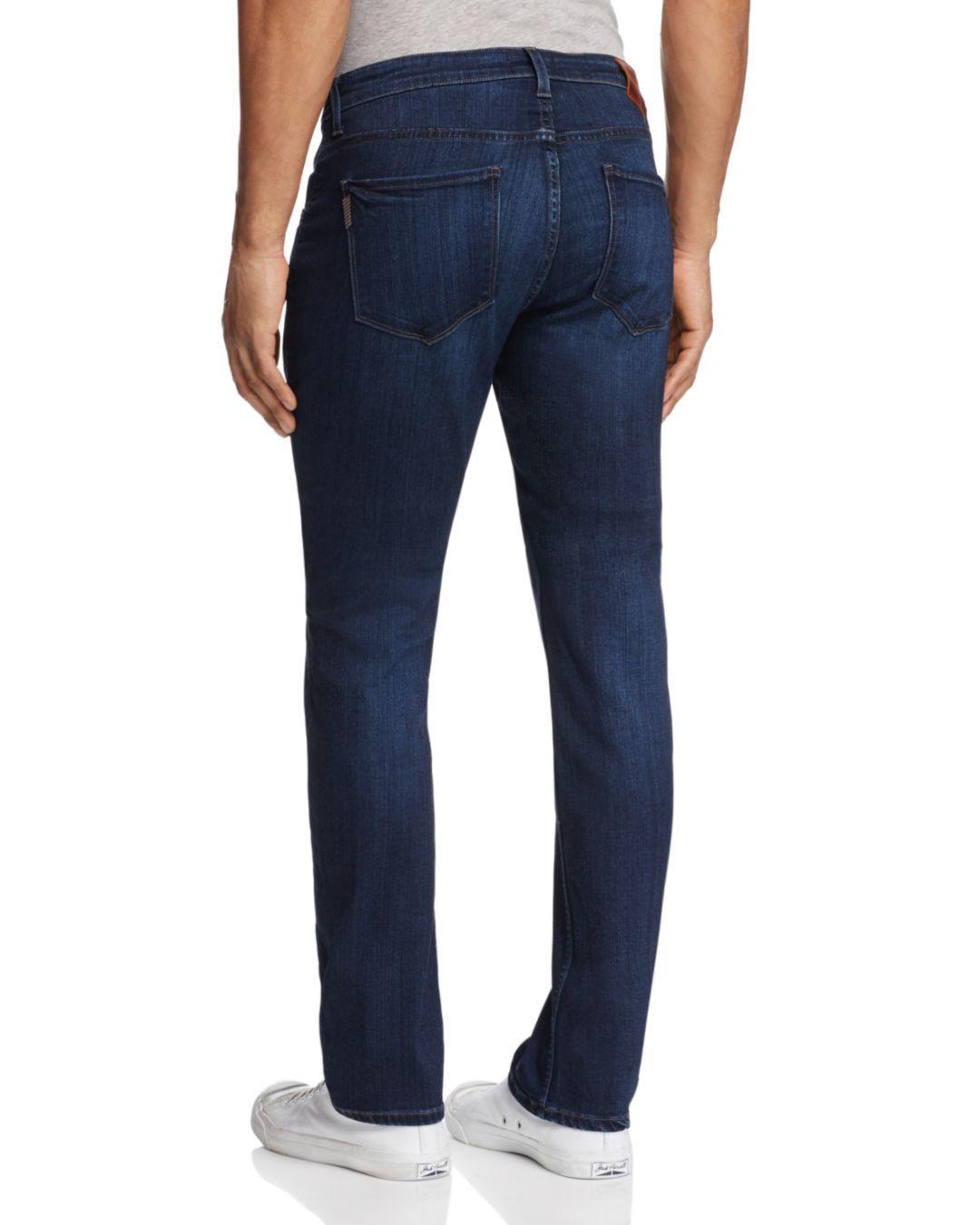 PAIGE Denim Transcend Federal Slim Fit Jeans In Barron in Blue for Men