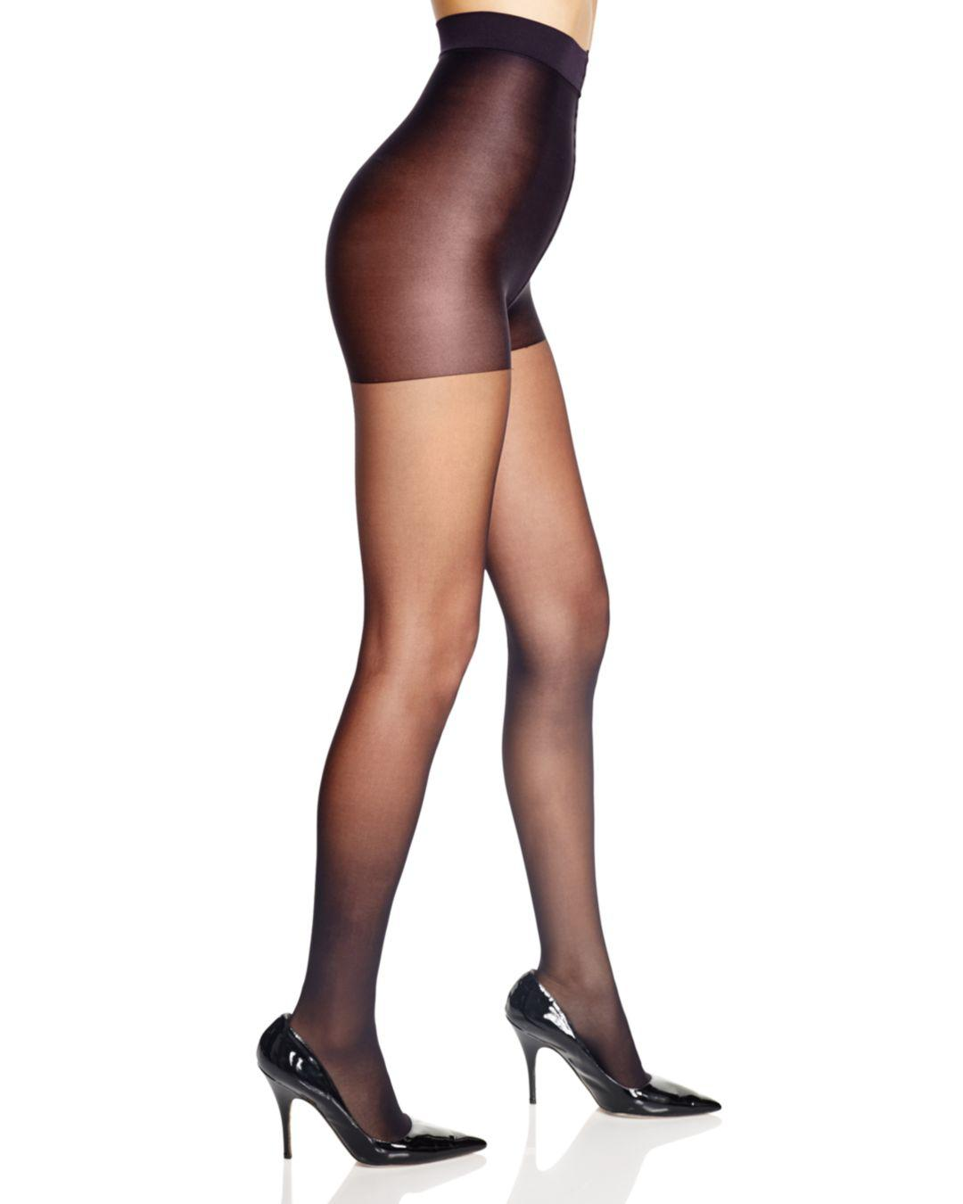 da6d2b9ec0cbc Lyst - Calvin Klein Matte Sheer Control Top Tights in Black