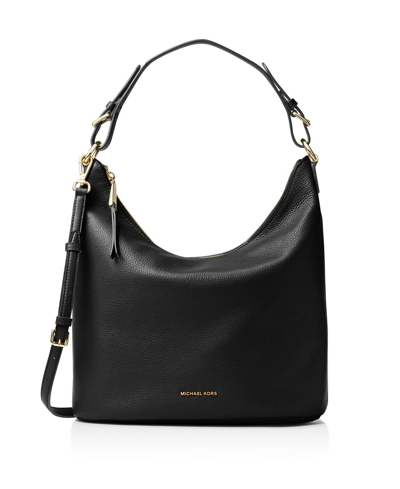a021b39c0d74 Michael Kors Black Leather Hobo Bag | Stanford Center for ...