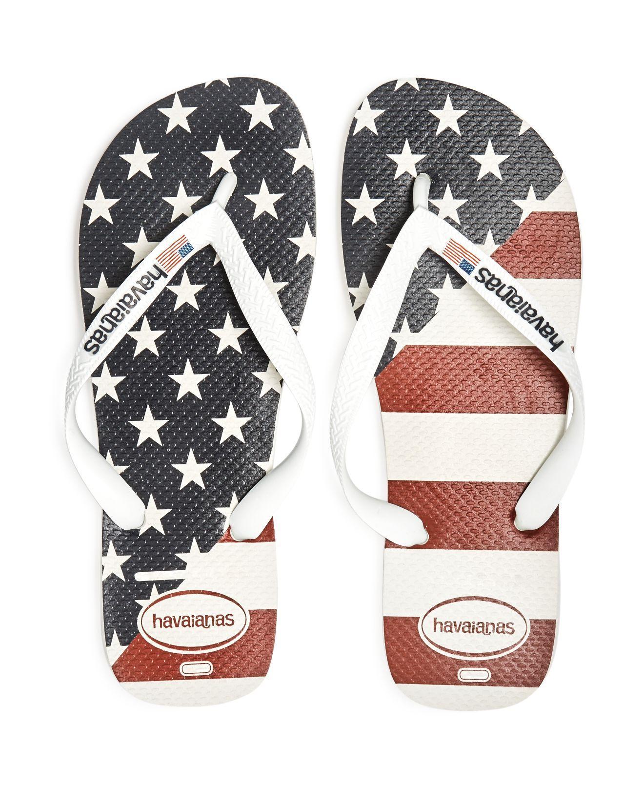 Havaianas Men S Usa Flag Flip Flops In White For Men Lyst
