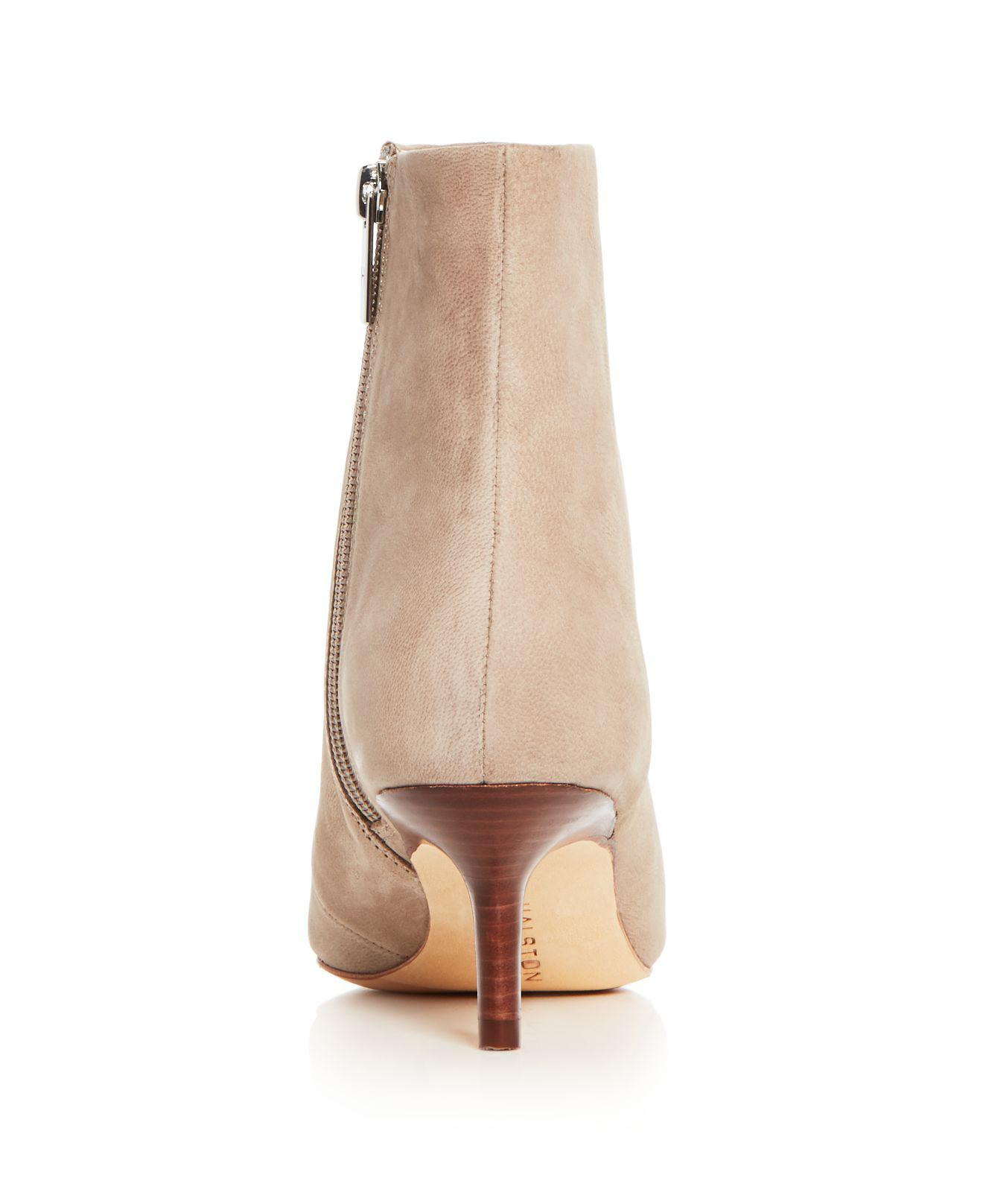 Halston Heritage Women's Faith Nubuck Leather Kitten Heel Booties For Sale Cheap Online OqvYOcD
