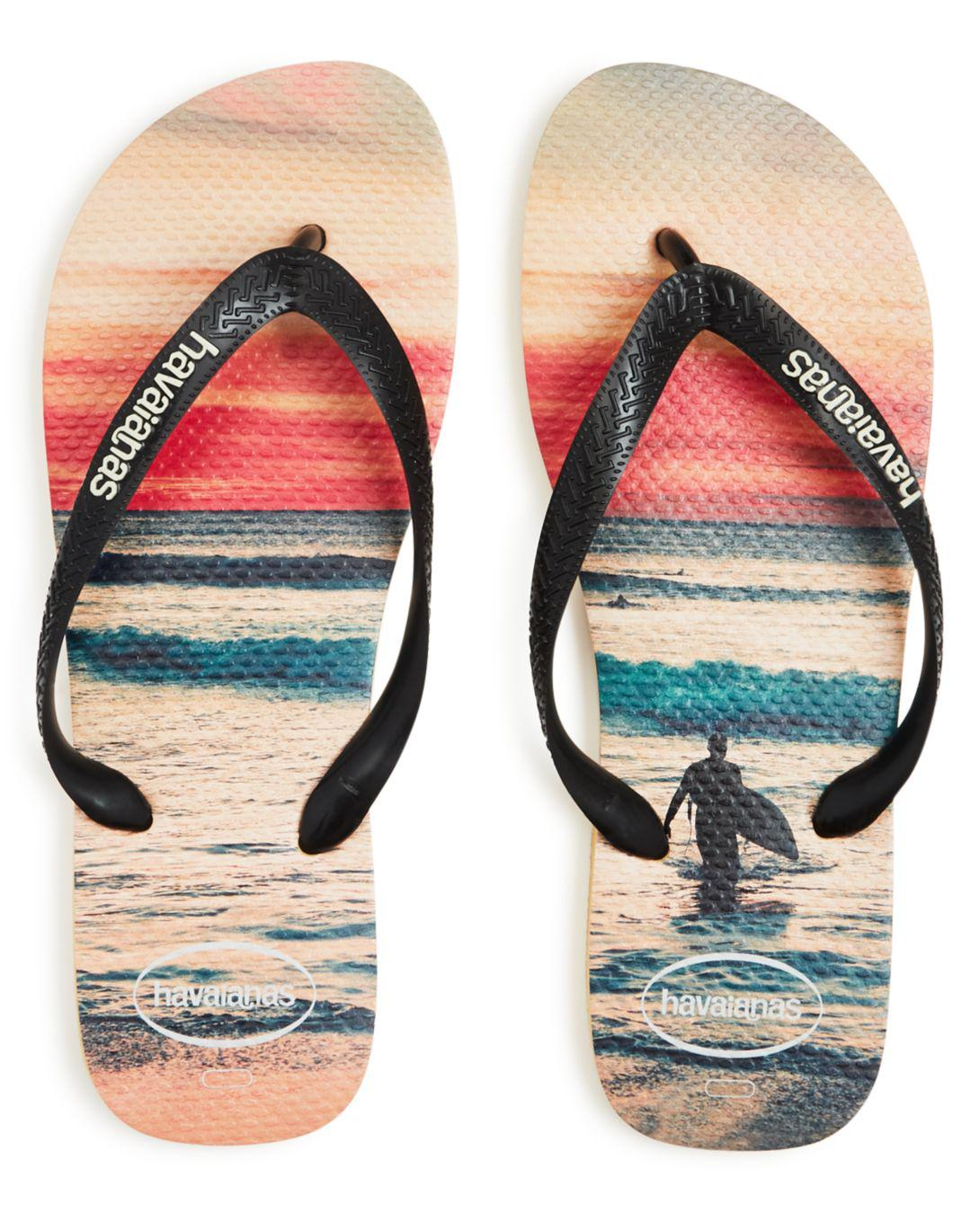 8bb2e3ac61d8 Lyst - Havaianas Men s Hype Beach Print Flip-flops in White for Men