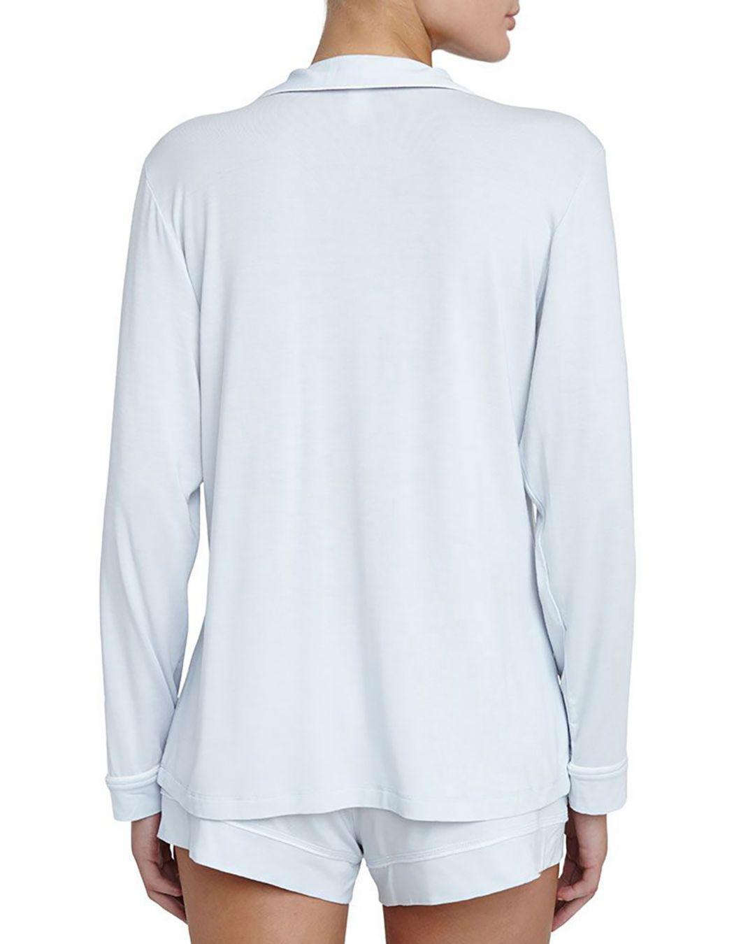 48ee5ce1189 Eberjey Gisele Long Sleeve Short Pajama Set in Blue - Lyst
