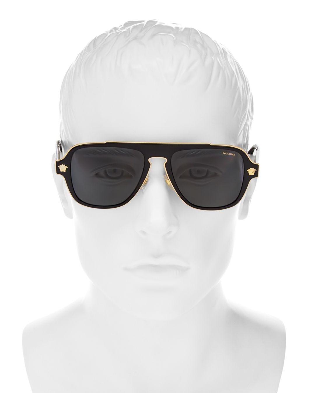 56f71e2e504 Lyst - Bloomingdale s Versace Collection Men s Polarized Flat Top Aviator  Sunglasses
