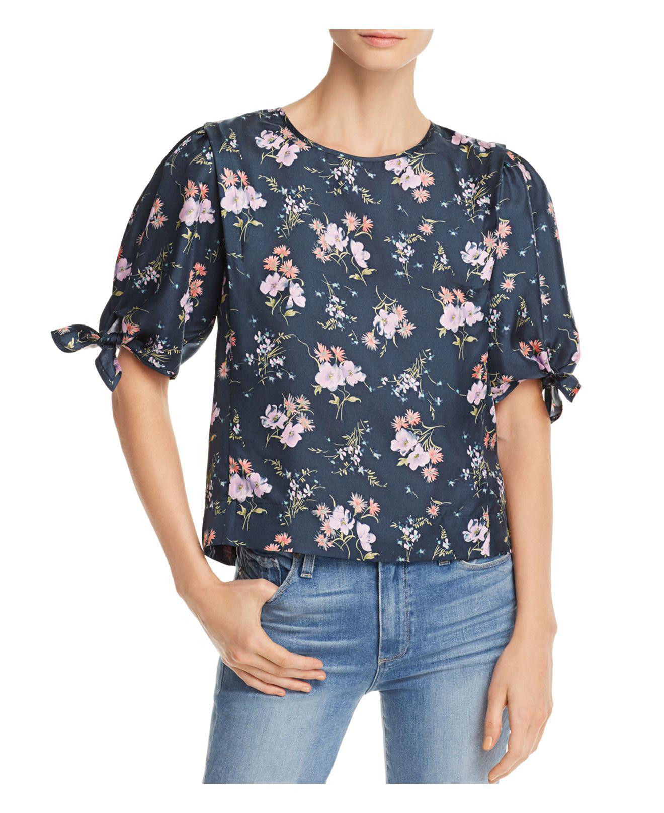 Cheap Price Wholesale Emilia floral-print silk-twill top Rebecca Taylor Amazing Price Sale Online Cheap Price Cost Big Sale Cheap Online QMgIONoJ