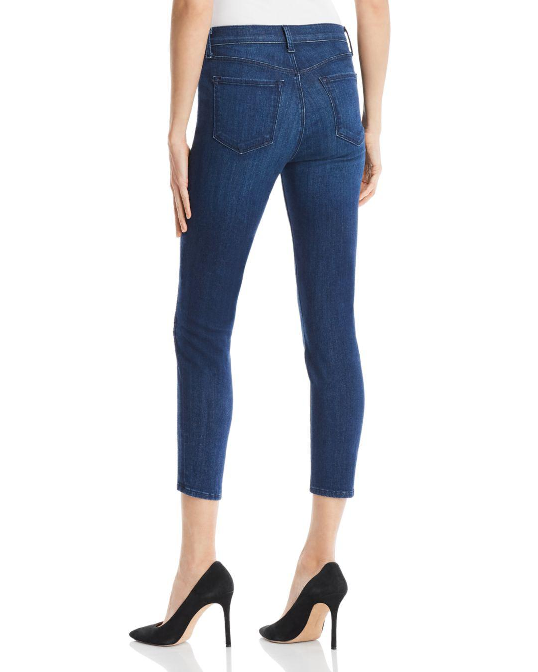 J Brand Alana Ladder Lace Jeans In Indigo Ladder Lace in Blue