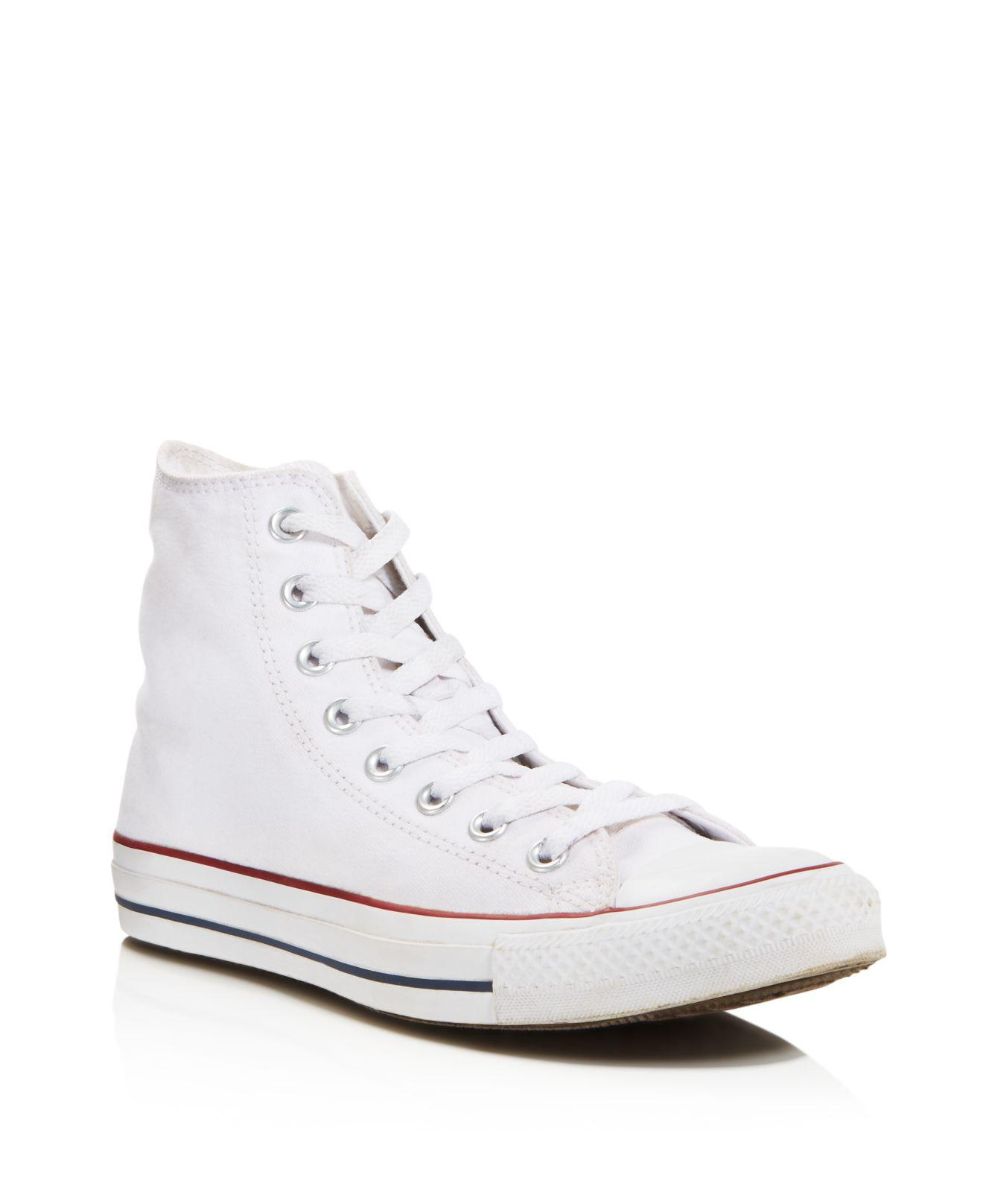 Lyst - Converse Women s Chuck Taylor All Star High Top Sneakers in White 2fee63522