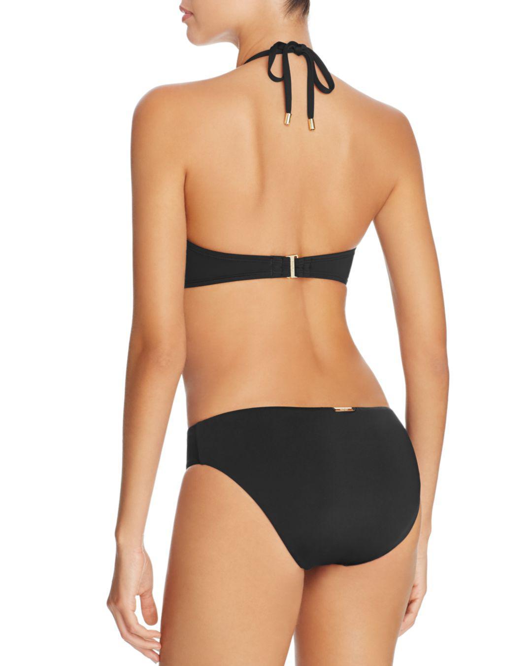 154106fbfa Lyst - Laundry By Shelli Segal Hipster Bikini Bottom in Black - Save  34.14634146341463%