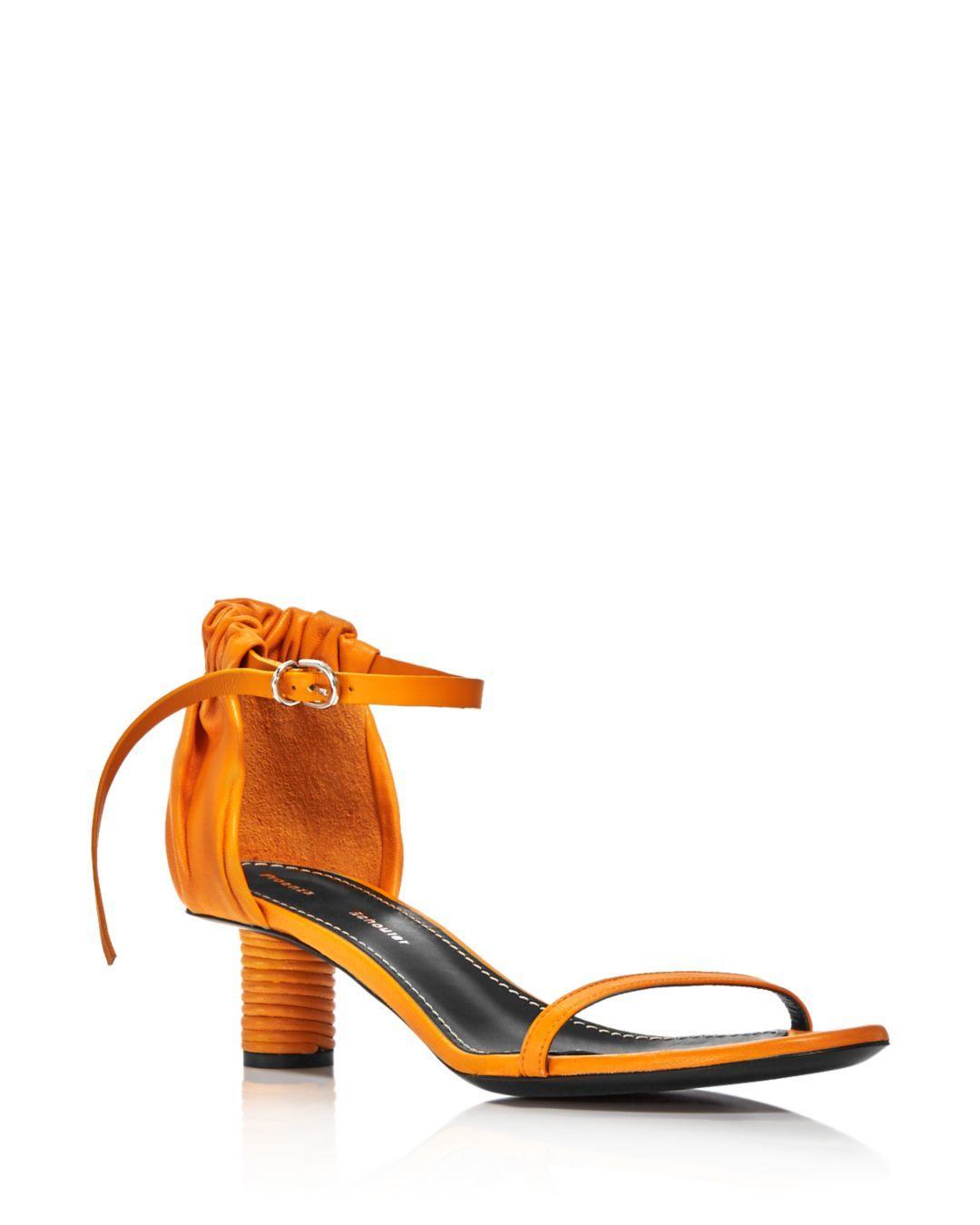 04f43b885a5 Lyst - Proenza Schouler Women s Ruffled Round Heel Sandals in Yellow