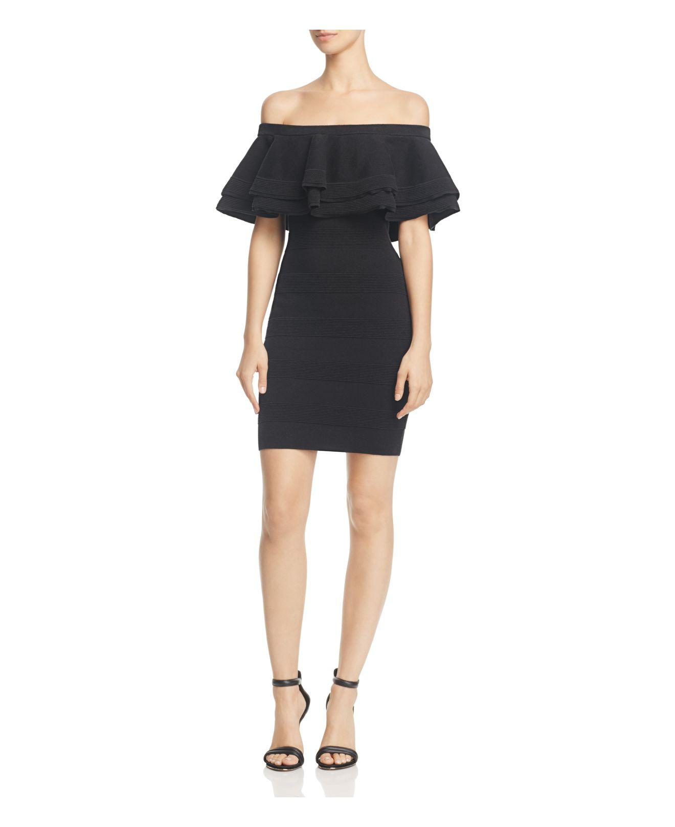 c6c552eb6516 Lyst - Endless Rose Tiered Ruffle Off-the-shoulder Dress in Black