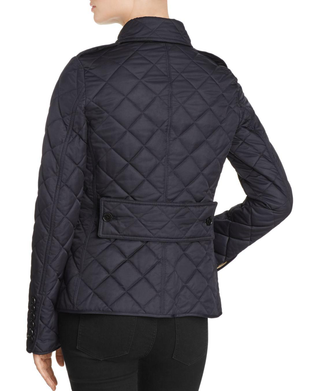 d30b25c324e Lyst - Burberry Frankby Quilted Jacket in Blue