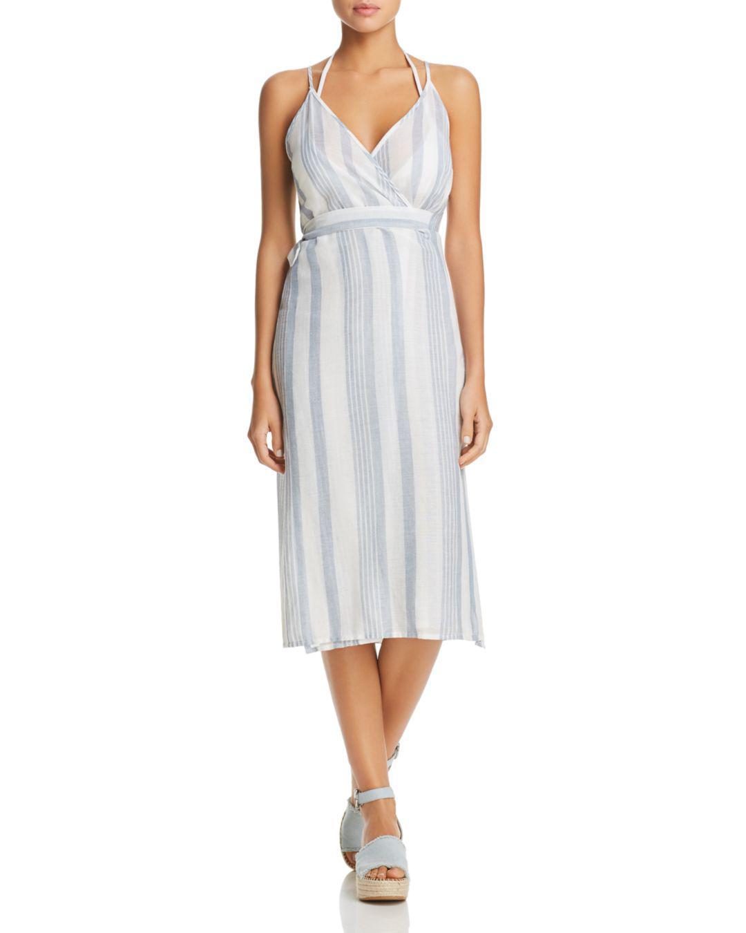 e04f012739 Lyst - J Valdi Sardinia Wrap Midi Dress Swim Cover-up in White