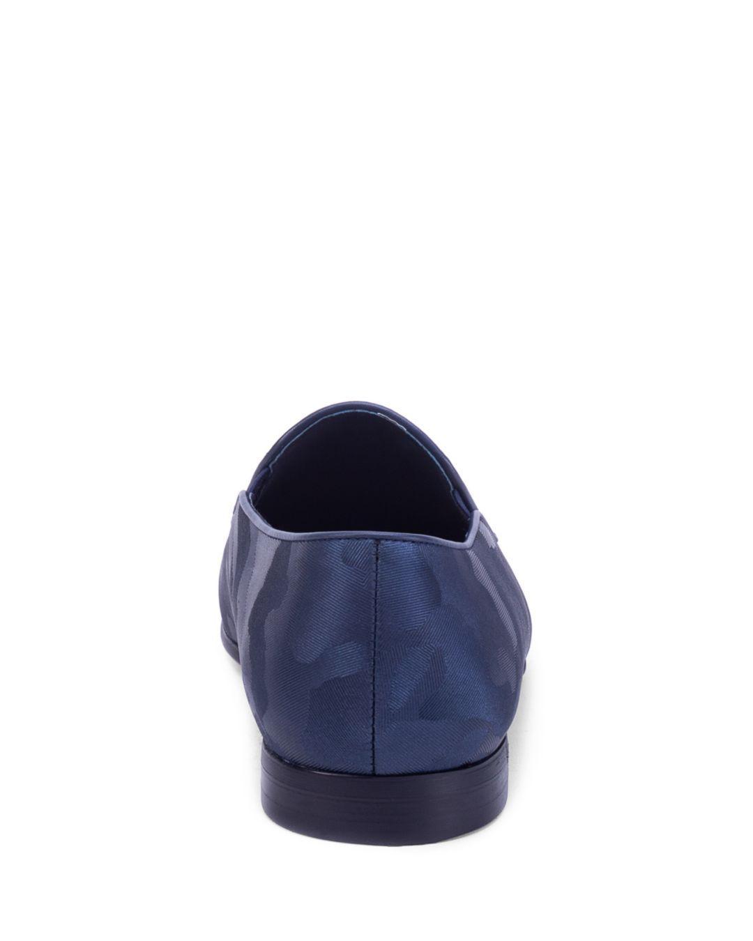 f77eb7d18e0be Robert Graham - Blue Men's Fry Camouflage Slipper Loafers for Men - Lyst.  View fullscreen