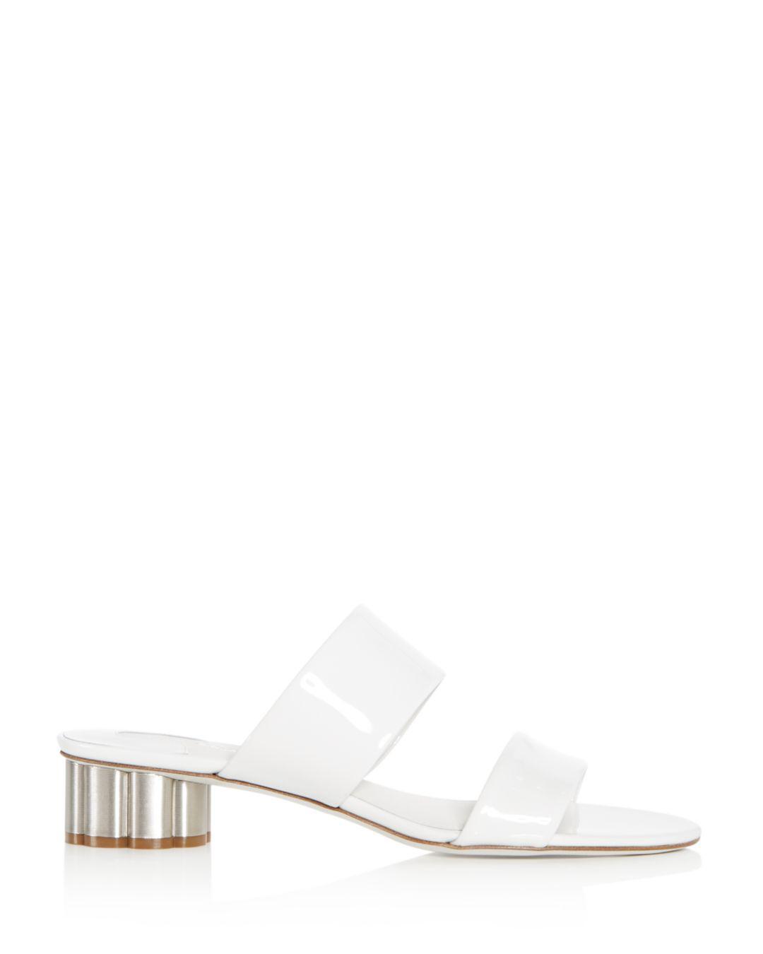 385265294023 Women s Pink Belluno Patent Leather Slide Sandals