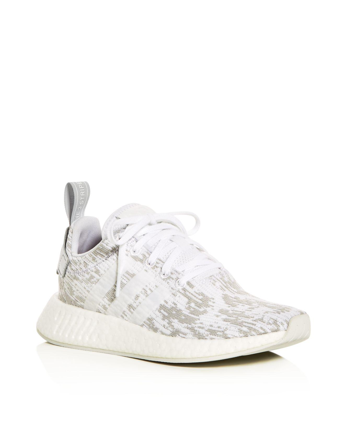 5107f143226e6 Lyst - adidas Women s Nmd R2 Lace Up Sneakers in White